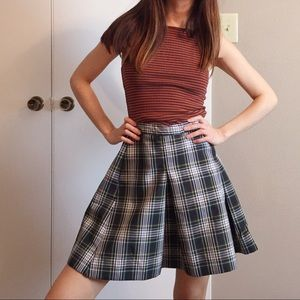 Vintage Dennis plaid school girl skirt.